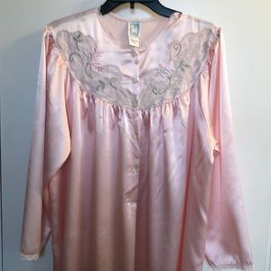 VTG Eve Stillman Lace Embroidered Nightgown size M